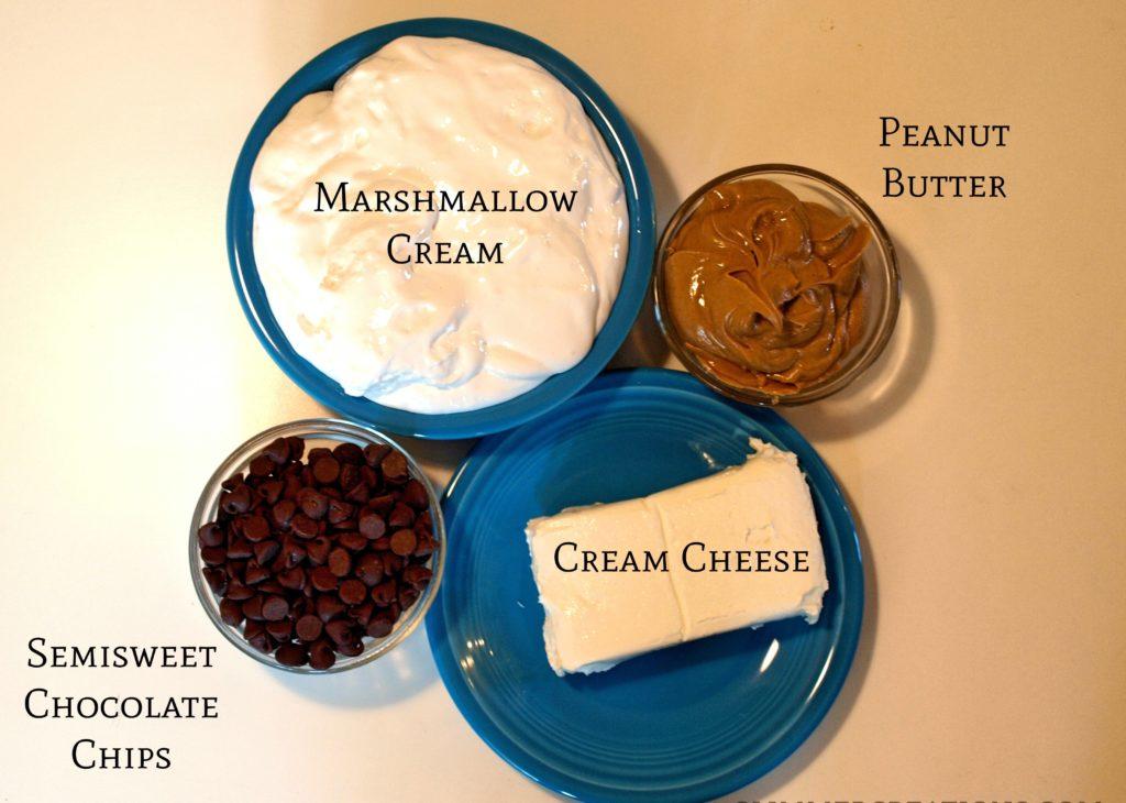 Chocolate Peanut Butter marshmallow Dip Recipe - createwithclaudia.com