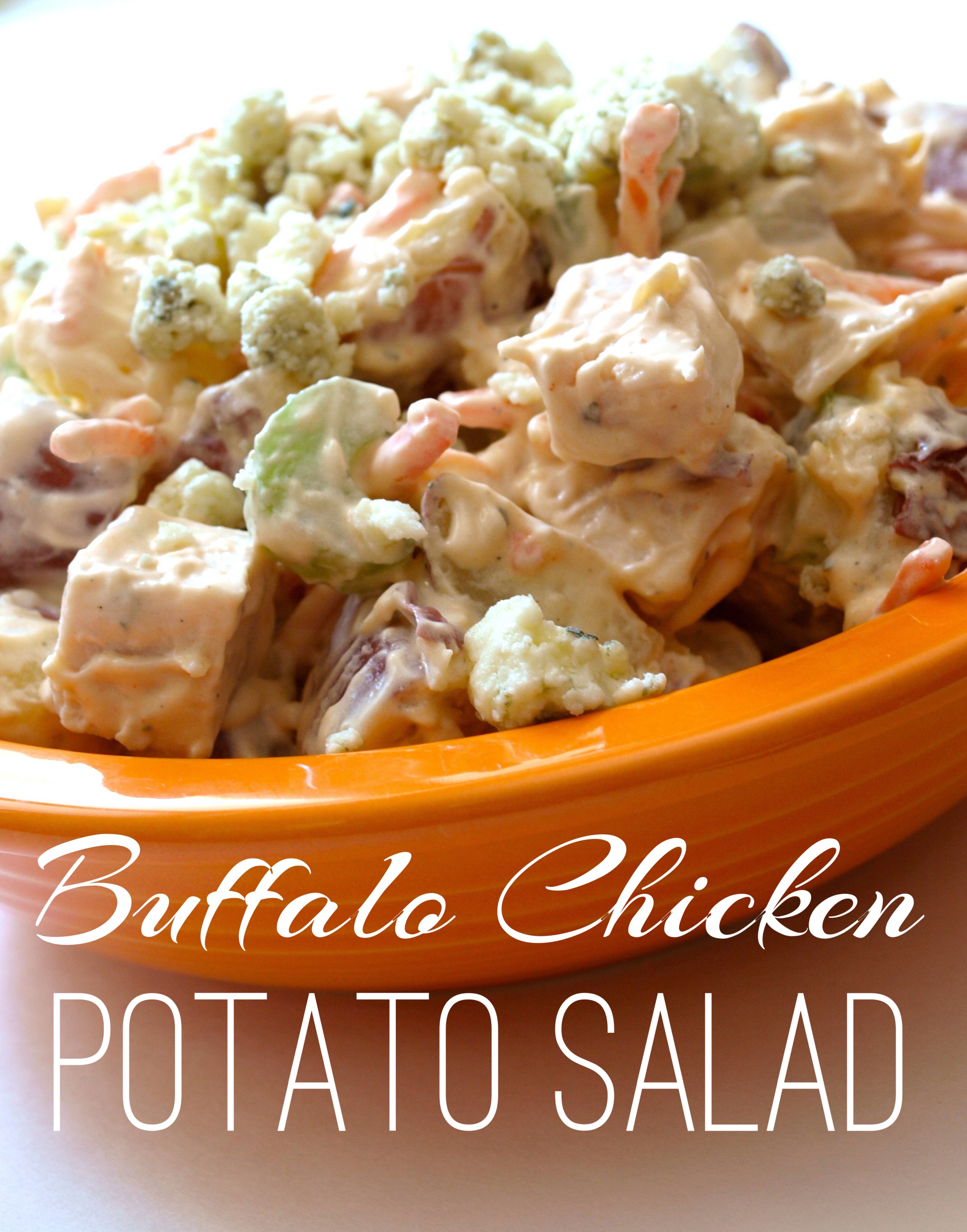 Buffalo Chicken Potato Salad - createwithclaudia.com
