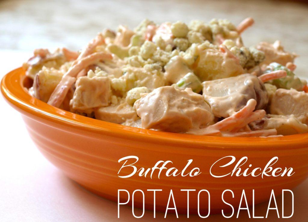 Buffalo Chicken Potato Salad - createwithclaudia.com
