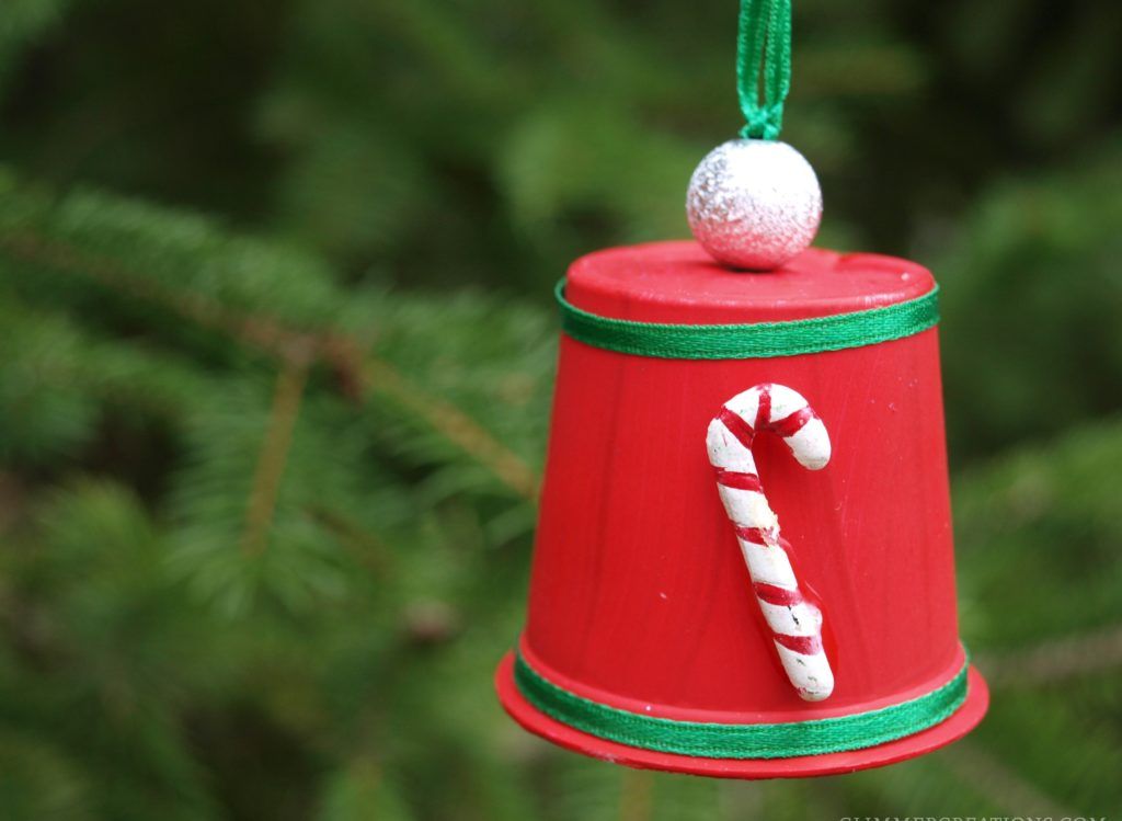 DIY Recycled Single Serve Christmas Bell - createwithclaudia.com
