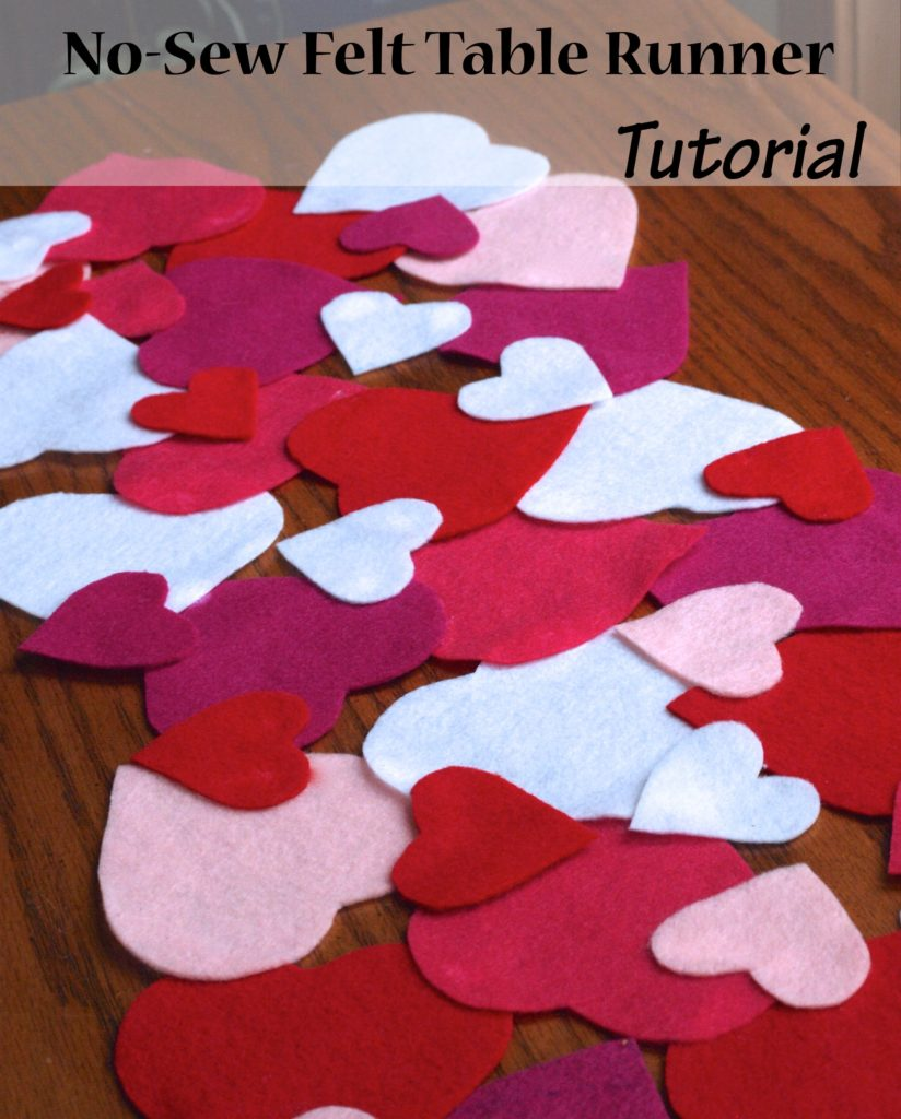 No Sew Felt Heart Table Runner