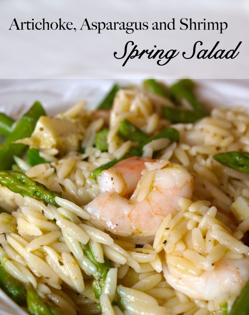 Shrimp and Asparagus Salad - createwithclaudia.com