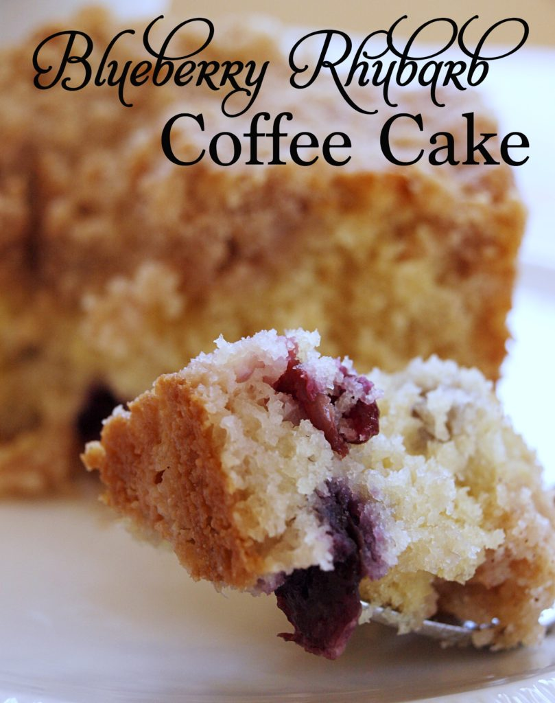 Blueberry Rhubarb Coffee Cake - createwithclaudia.com