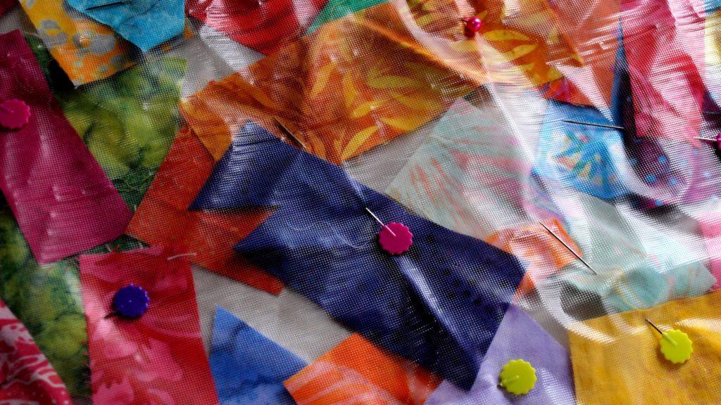 Batik Scrap Fabric Table Runner