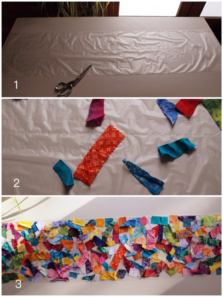 Batik Scrap Fabric Table runner - createwithclaudia