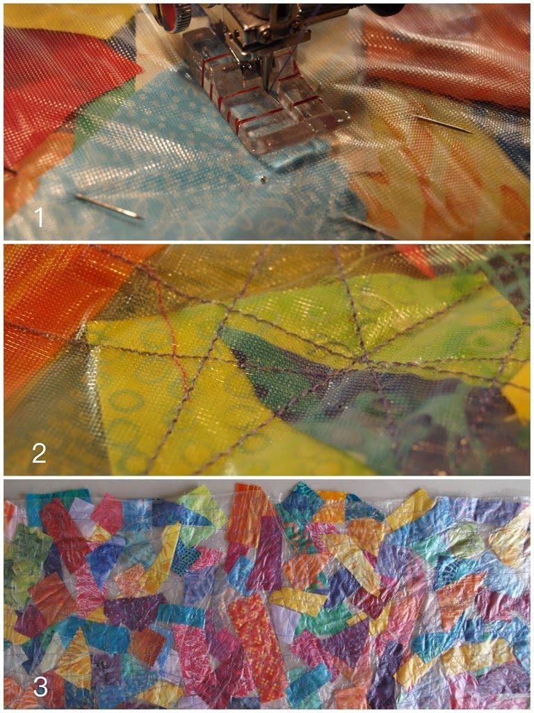 Batik Scrap Fabric Table Runner - Create with Claudia