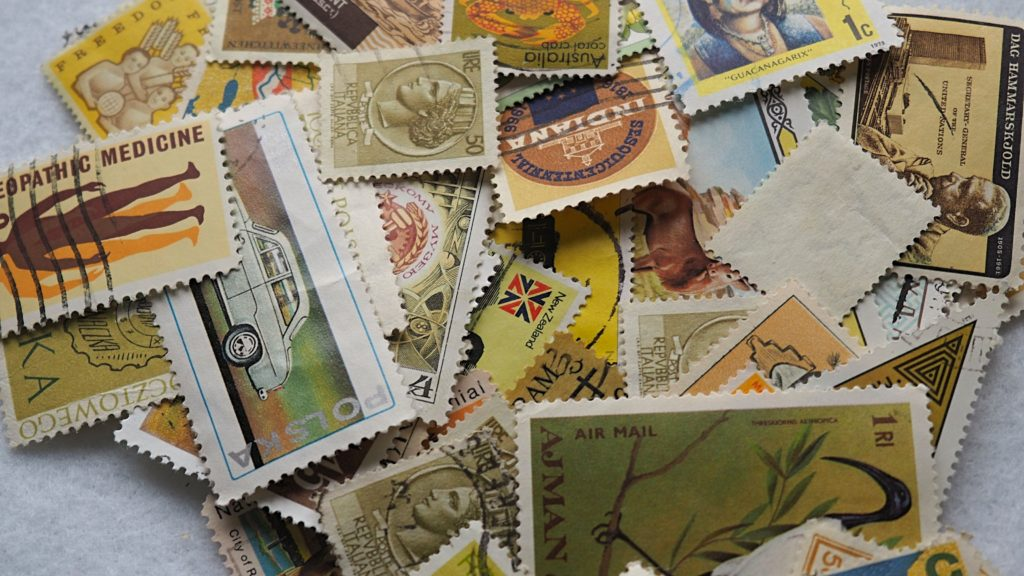 Recycled Postage Stamp Greeting Card DIY Tutorial