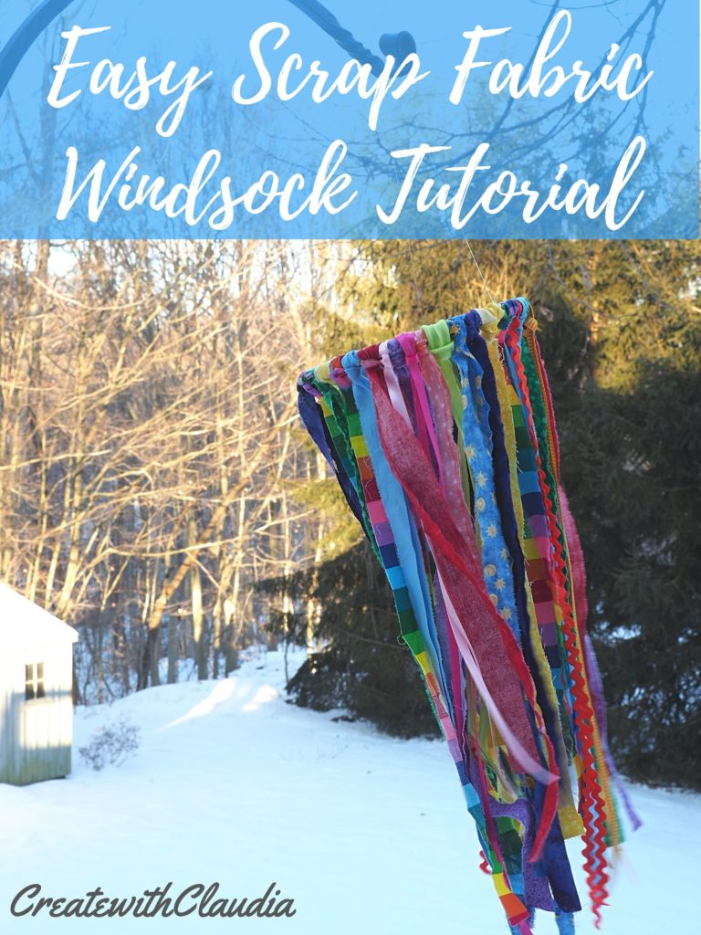 Easy Scrap Fabric Windsock Tutorial - Create with Claudia