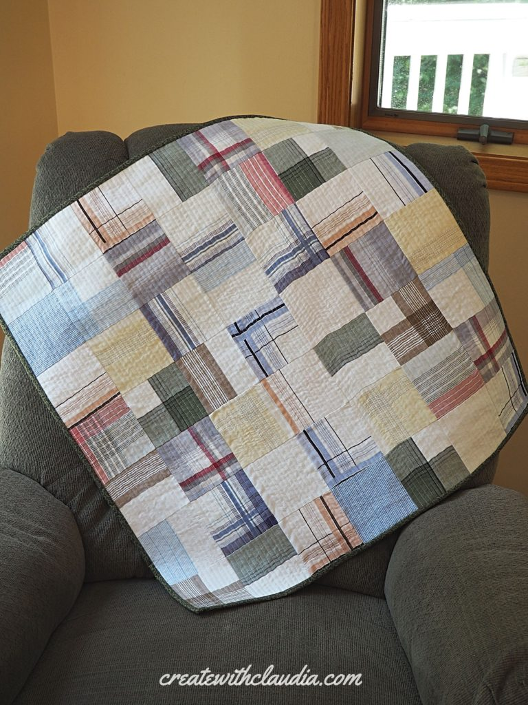 Men's Handkerchief Memory Quilt Tutorial - Free Pattern