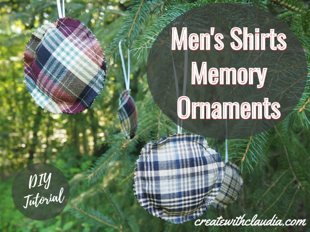 Men's Shirts Memory Ornaments Tutorial