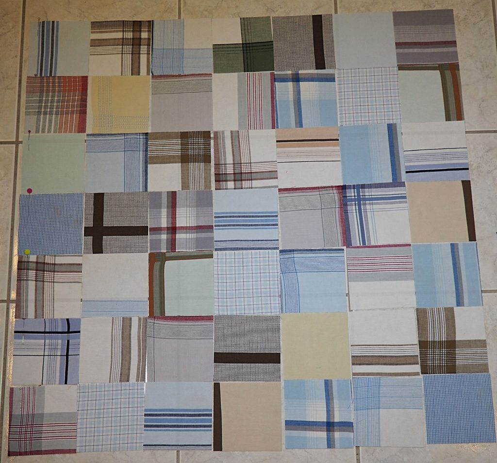 Laying out handkerchief blocks