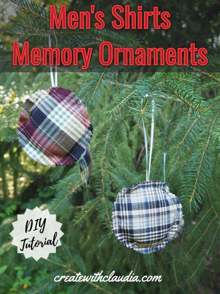 Men's Shirts Memory Ornaments Tutorial
