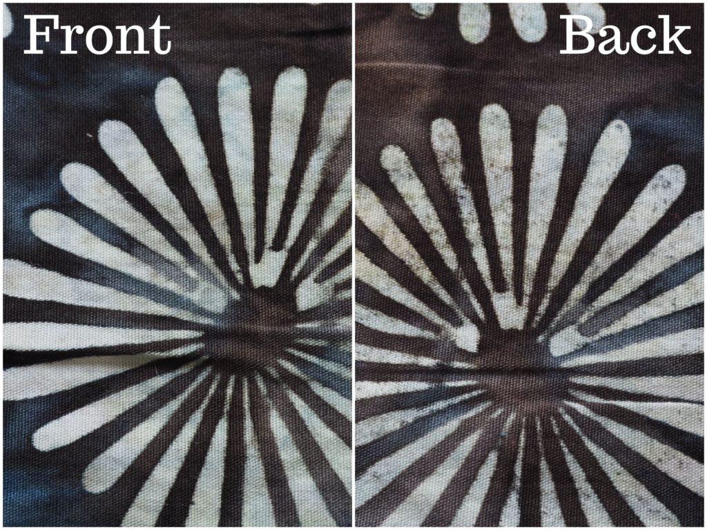 Front & Back of Batik