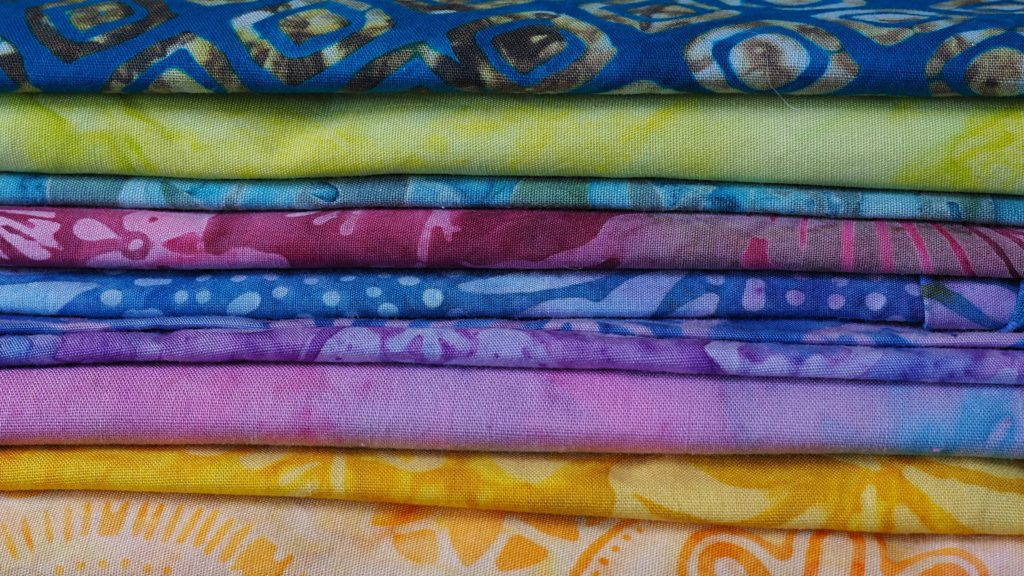 Beautiful Saturated Colors of Batiks