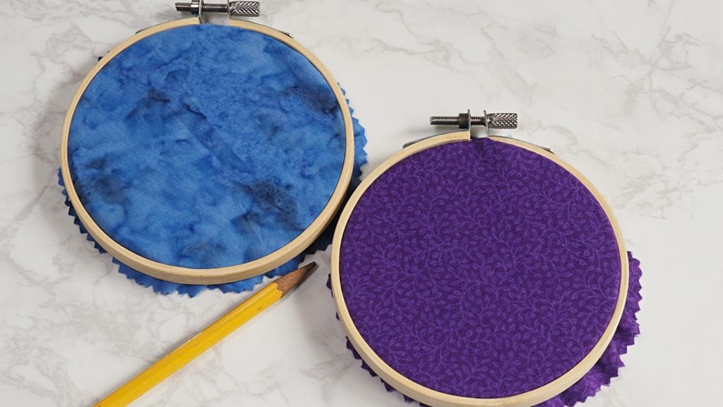 Marking embroidery hoops