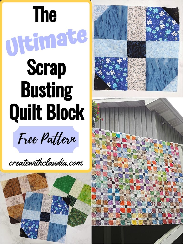 The Ultimate Scrap Busting Quilt Block #quiltblock #quilting
