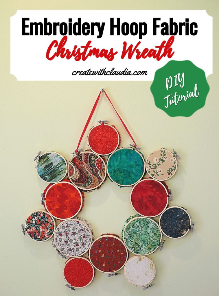 Embroidery Hoop Fabric Christmas Wreath