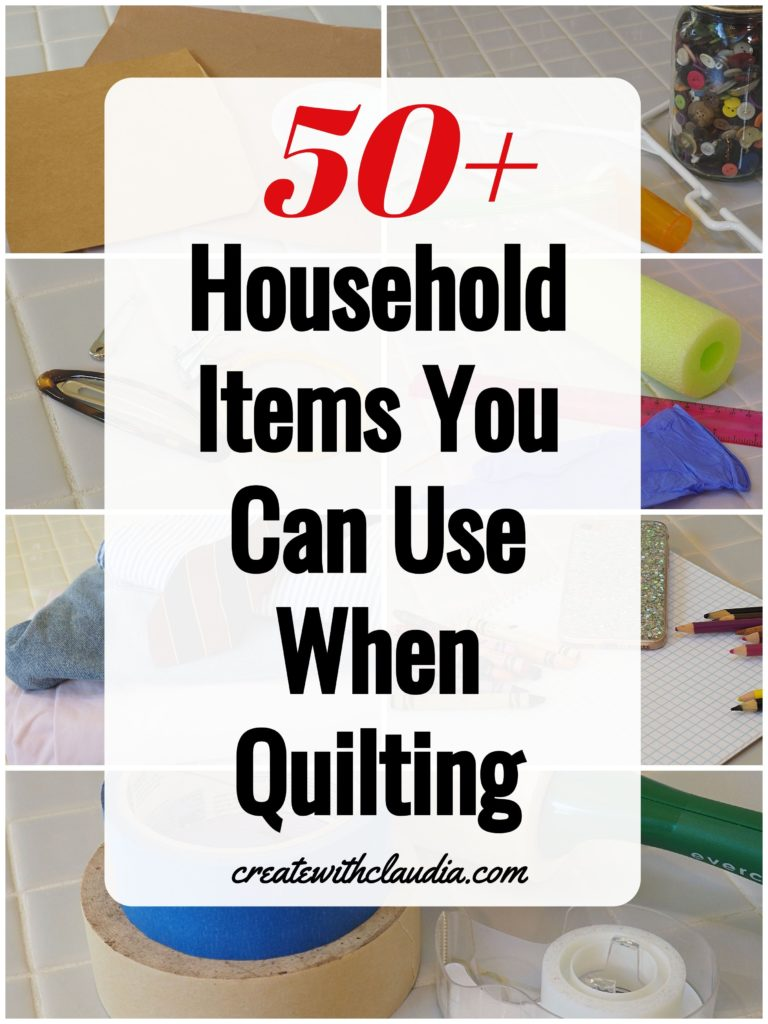 50 Everyday Household Items for Quilting