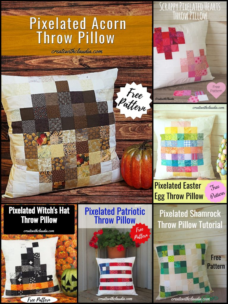 Holiday Pixelated Pillow Patterns