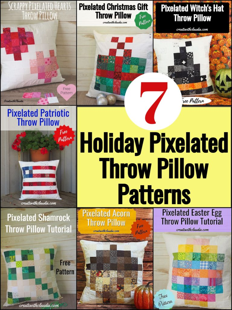 Seven Festive Holiday Throw Pillow Patterns