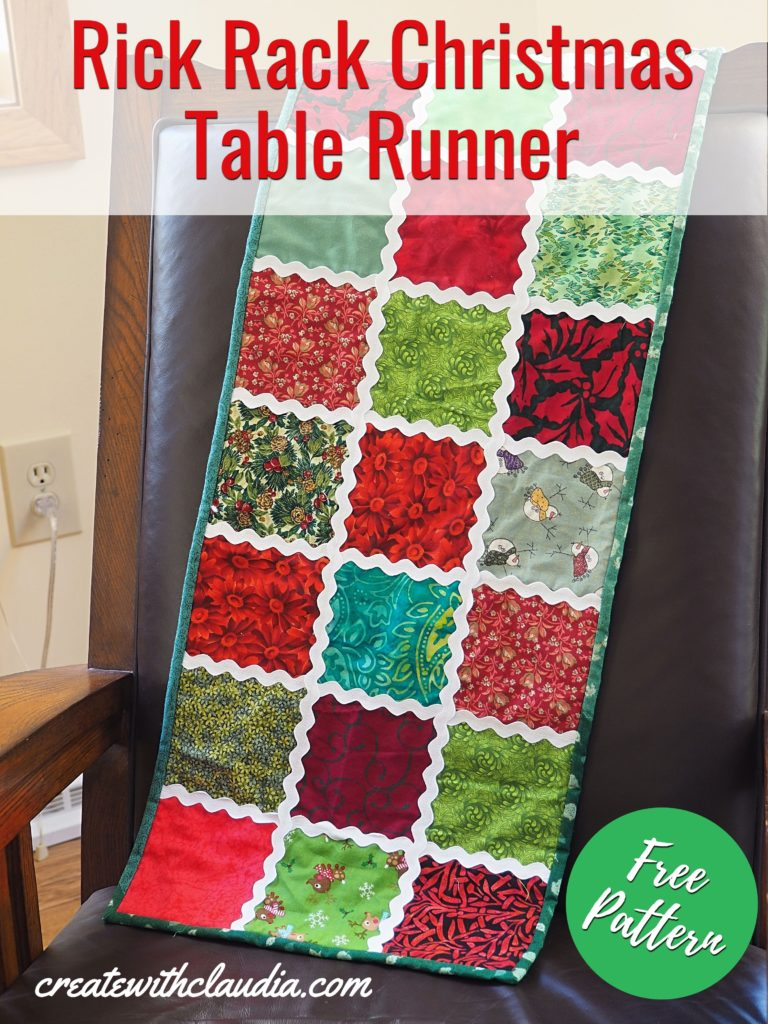 Rick Rack Christmas Table Runner Tutorial
