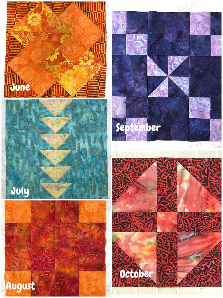Entries for the Patterns by Jen 2019 Monthly Color Challenge