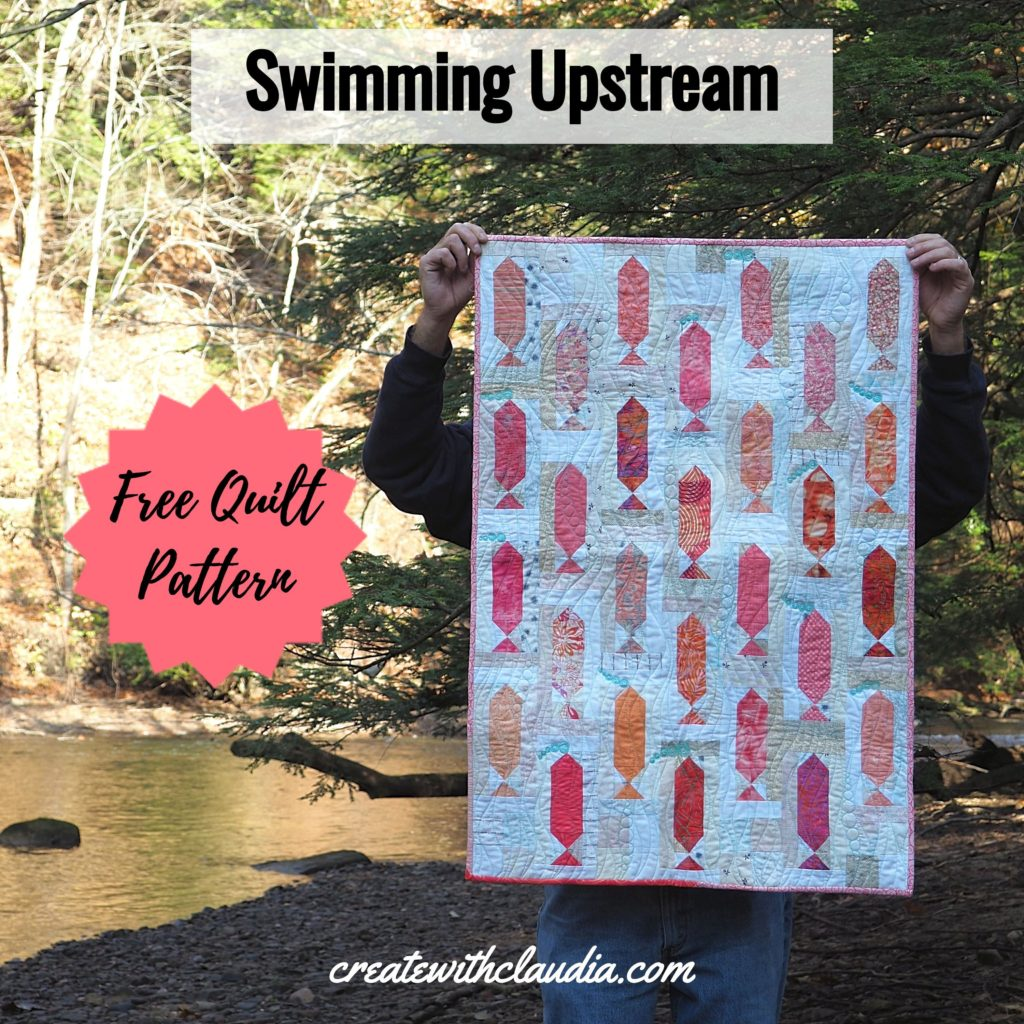 Swimming Upstream - Free Quilt Pattern by Create with Claudia