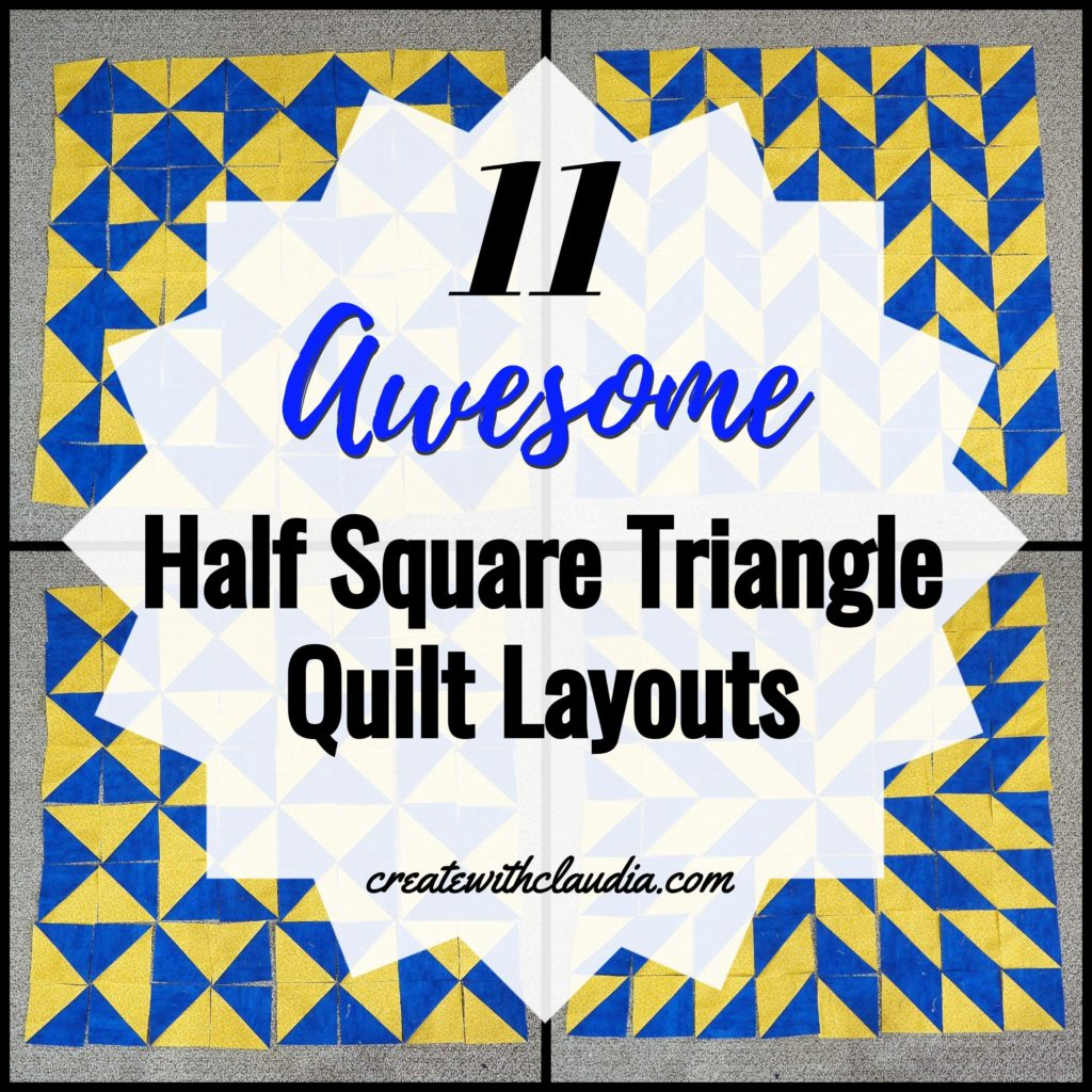 11 Awesome Half Square Triangle Patterns for Quilts