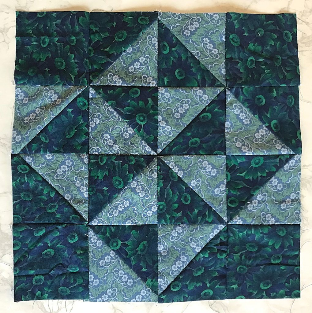 February Monthly Color Challenge Quilt Block