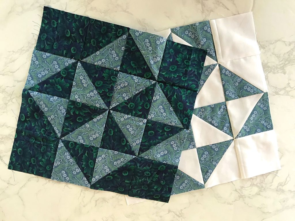 February Monthly Color Challenge Quilt Block - Both Versions