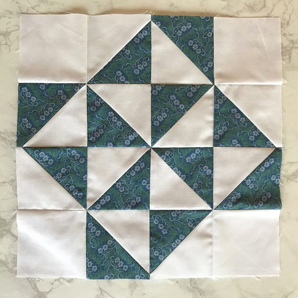 February Monthly Color Challenge Quilt Block in white