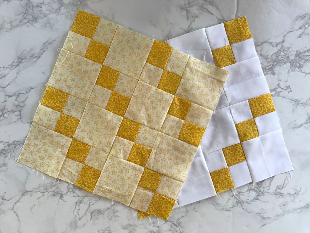 January Monthly Color Challenge Block - Both Versions
