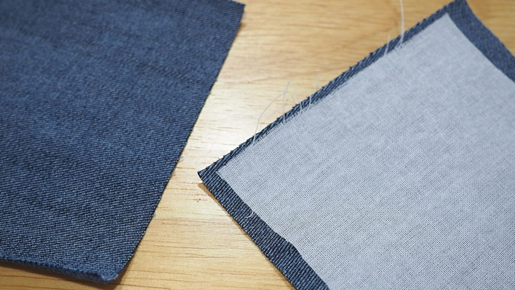 Stabilize stretch jeans when quilting with denim that has stretch