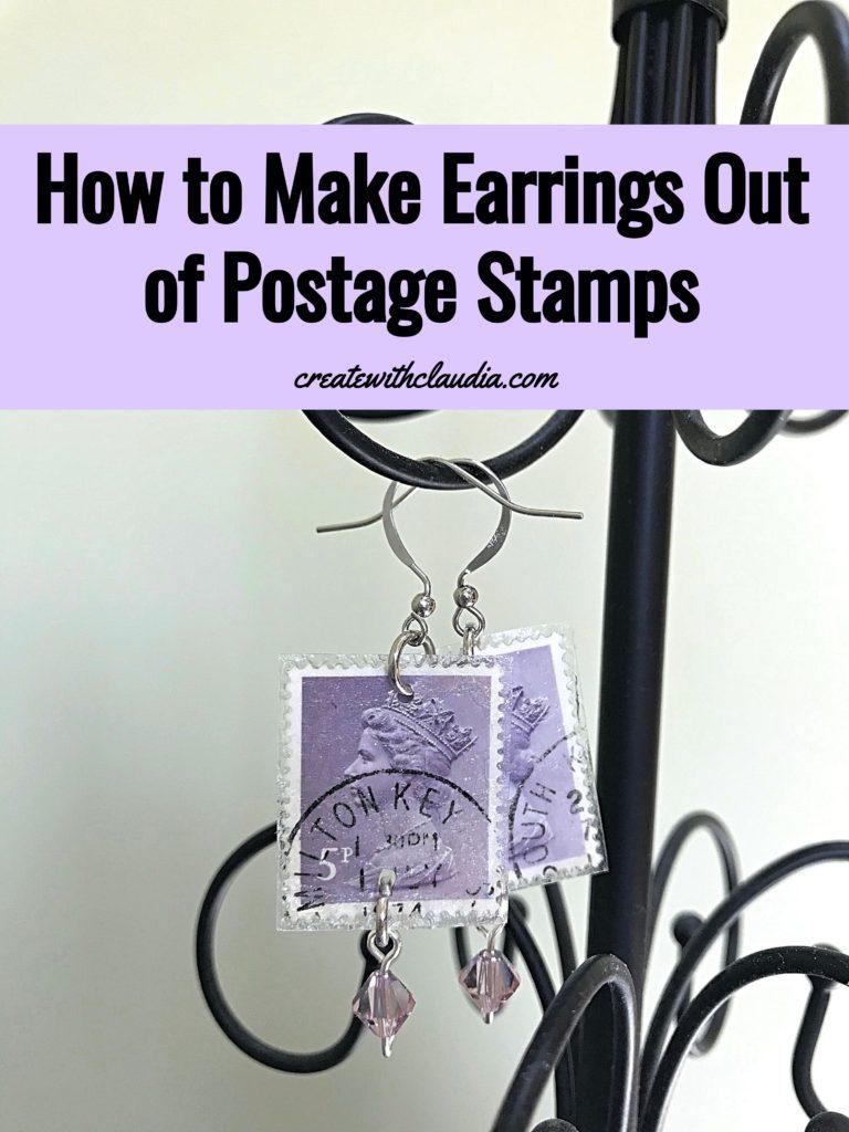 Postage Stamp Earrings Tutorial