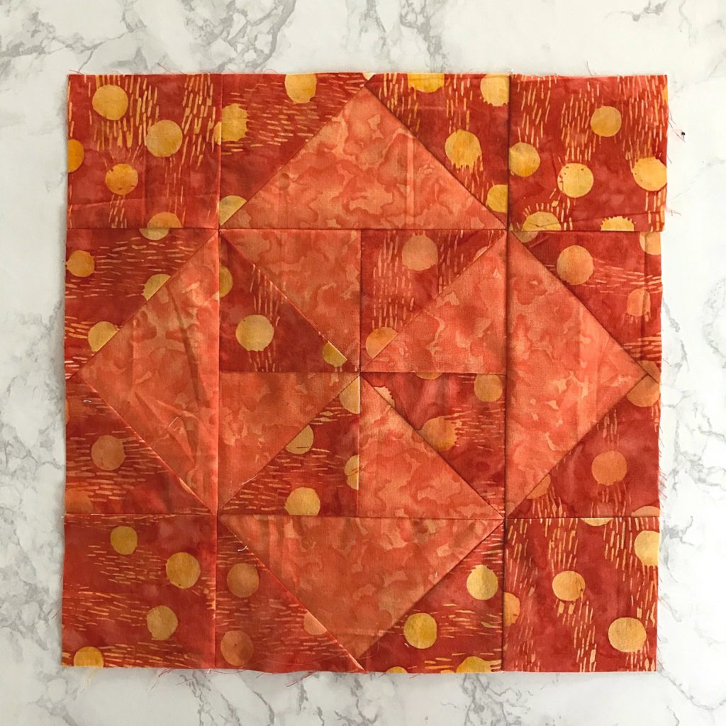 March monthly color challenge block for the Patterns by Jen 2020 quilt along