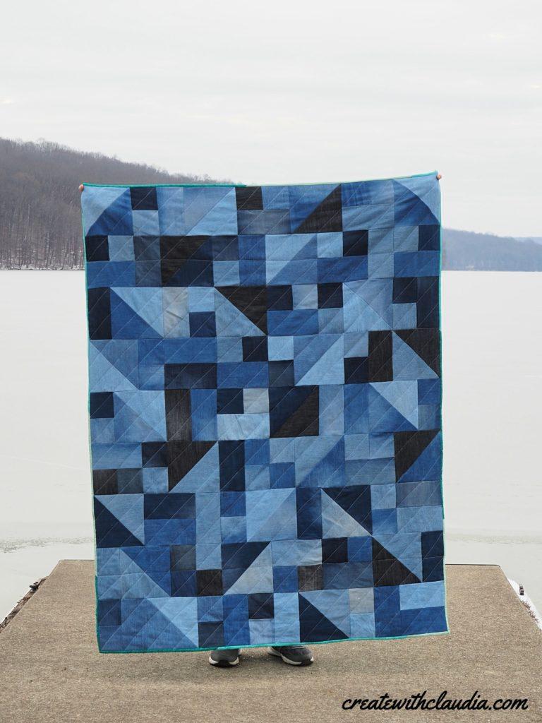 Freeform Denim Quilt Pattern