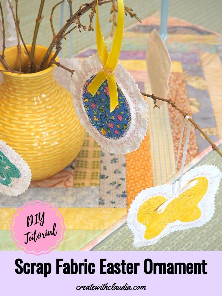 Scrap Fabric Easter Ornaments