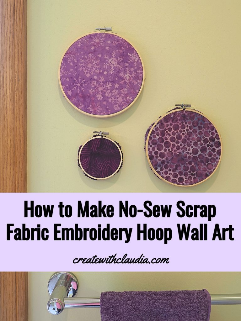 How to Make No-Sew Scrap Fabric Embroidery Hoop Art
