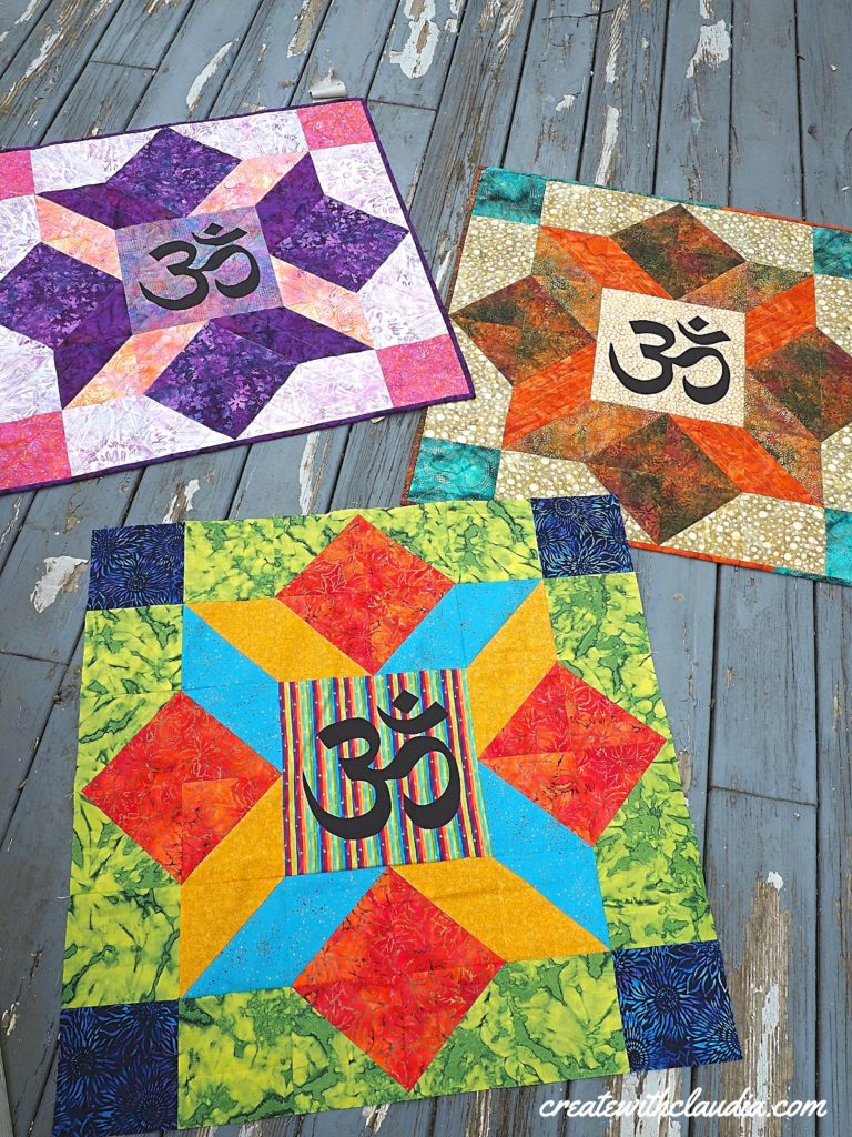 Aum (Om) Quilt Pattern - Free pattern and tutorial