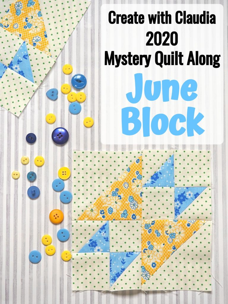 Create with Claudia 2020 Mystery Quilt Along - Block 6 - Old Maid's Puzzle