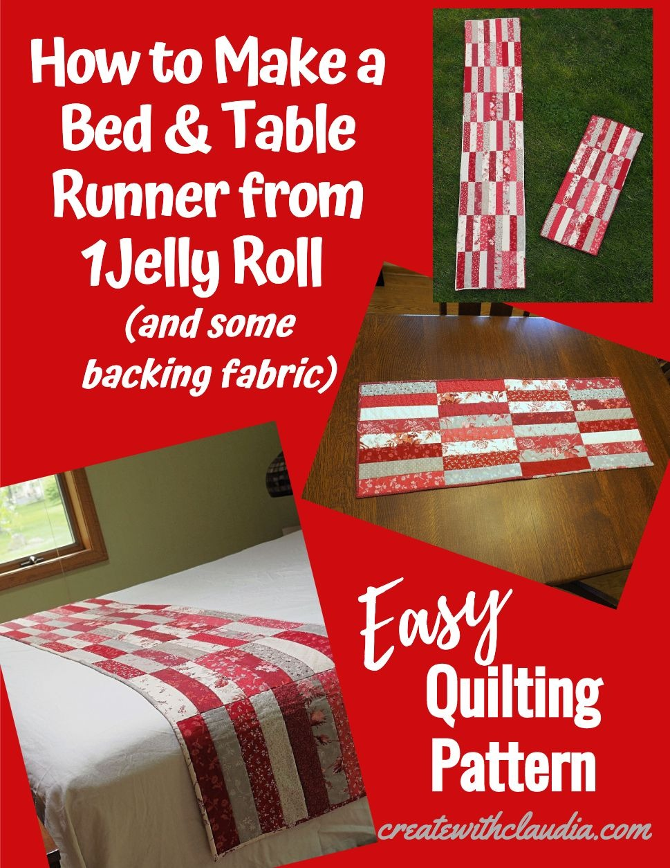 Jelly Roll Bed Runner Pattern Create With Claudia