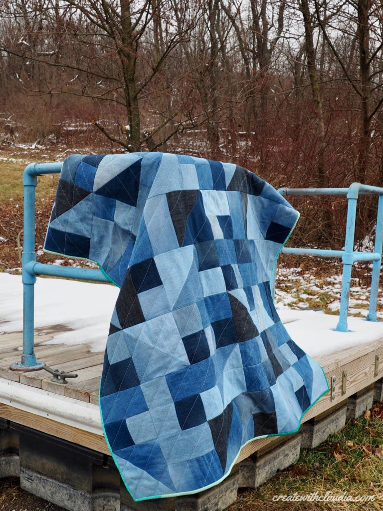 Freeform Denim Quilt Pattern