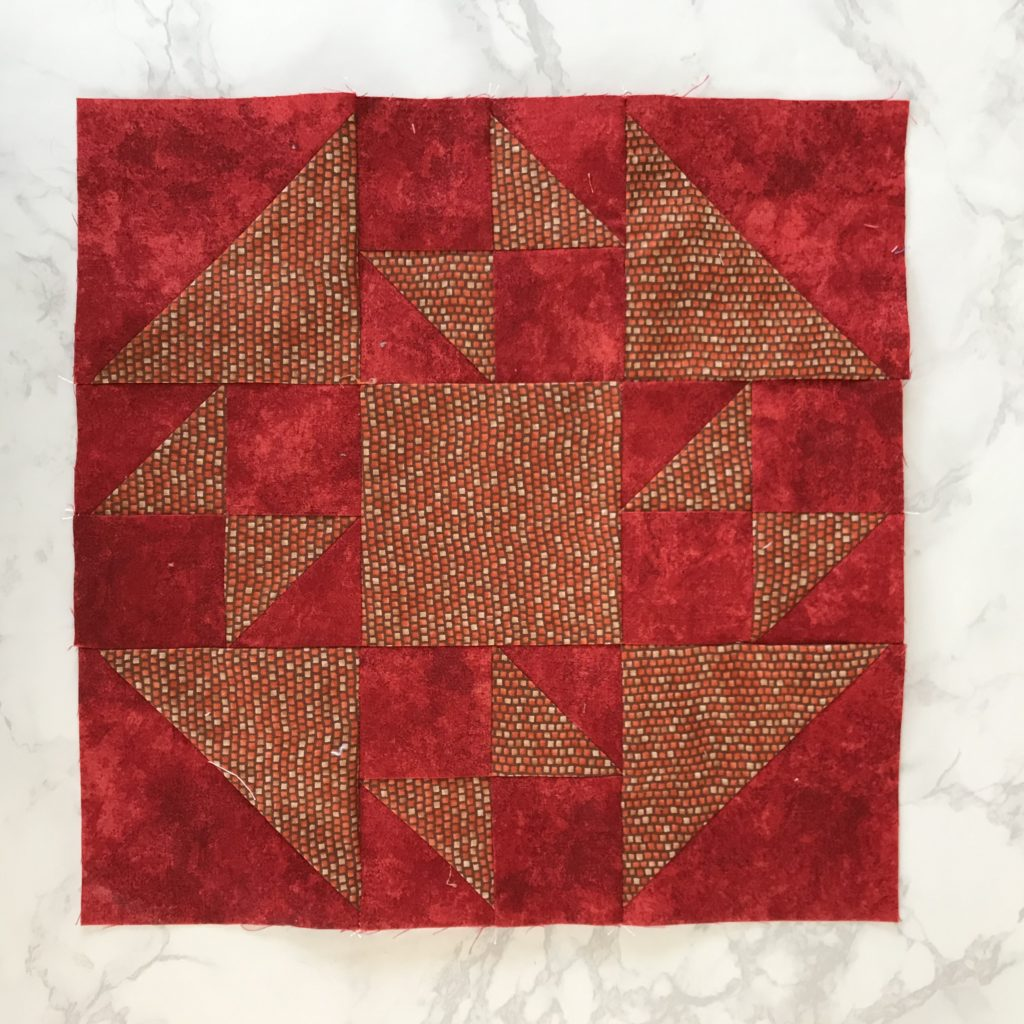 July Monthly Color Challenge Block for the Patterns by Jen 2020 Event