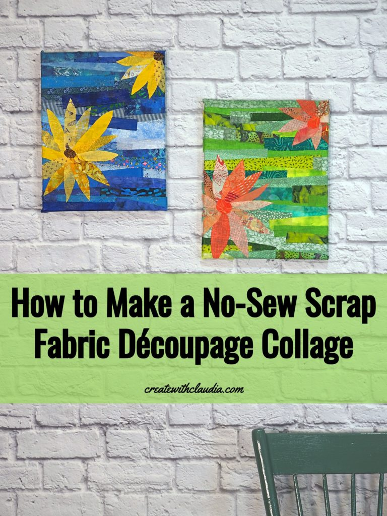 How to Make a Scrap Fabric Découpage Collage
