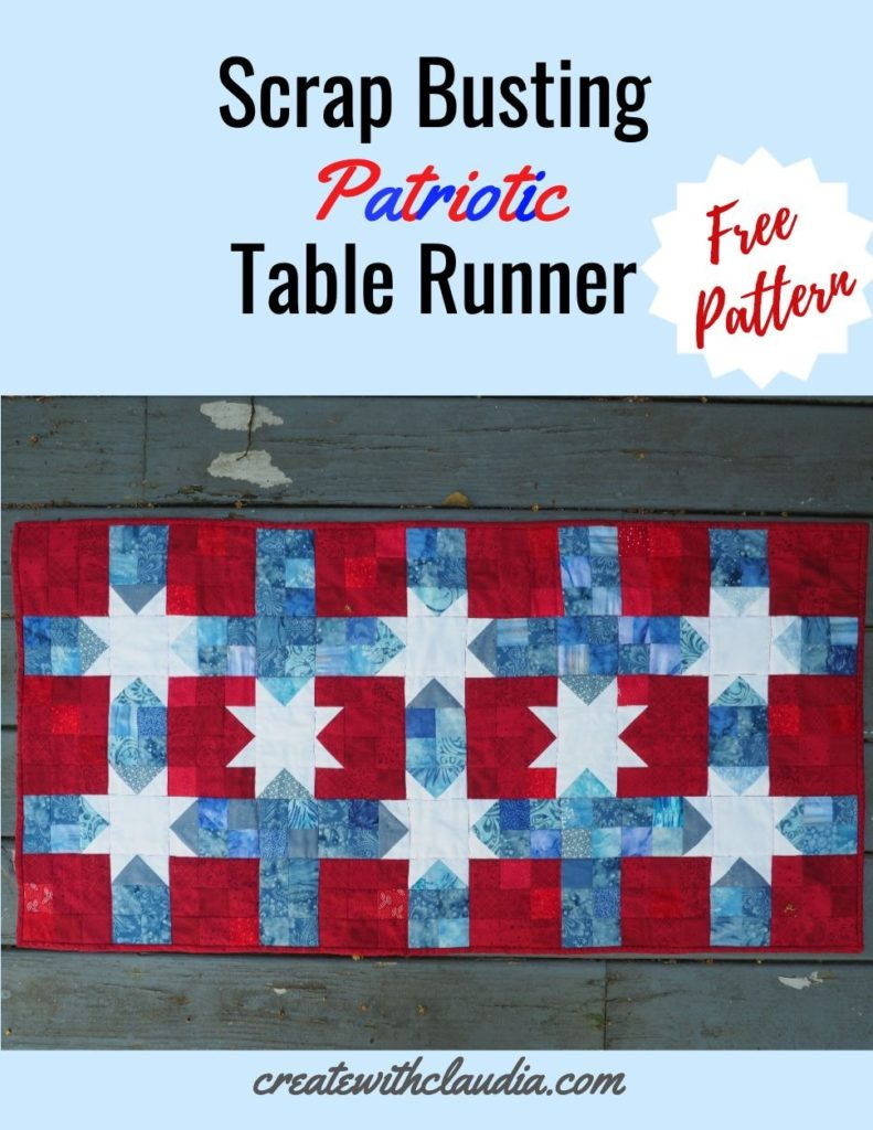 Scrap Busting Patriotic Table Runner Free Pattern
