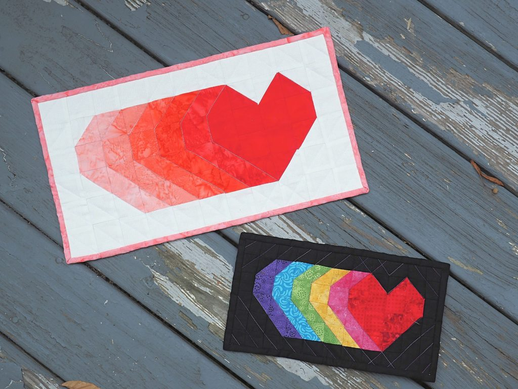 Shooting Hearts Mini Quilt Tutorial and Free Pattern