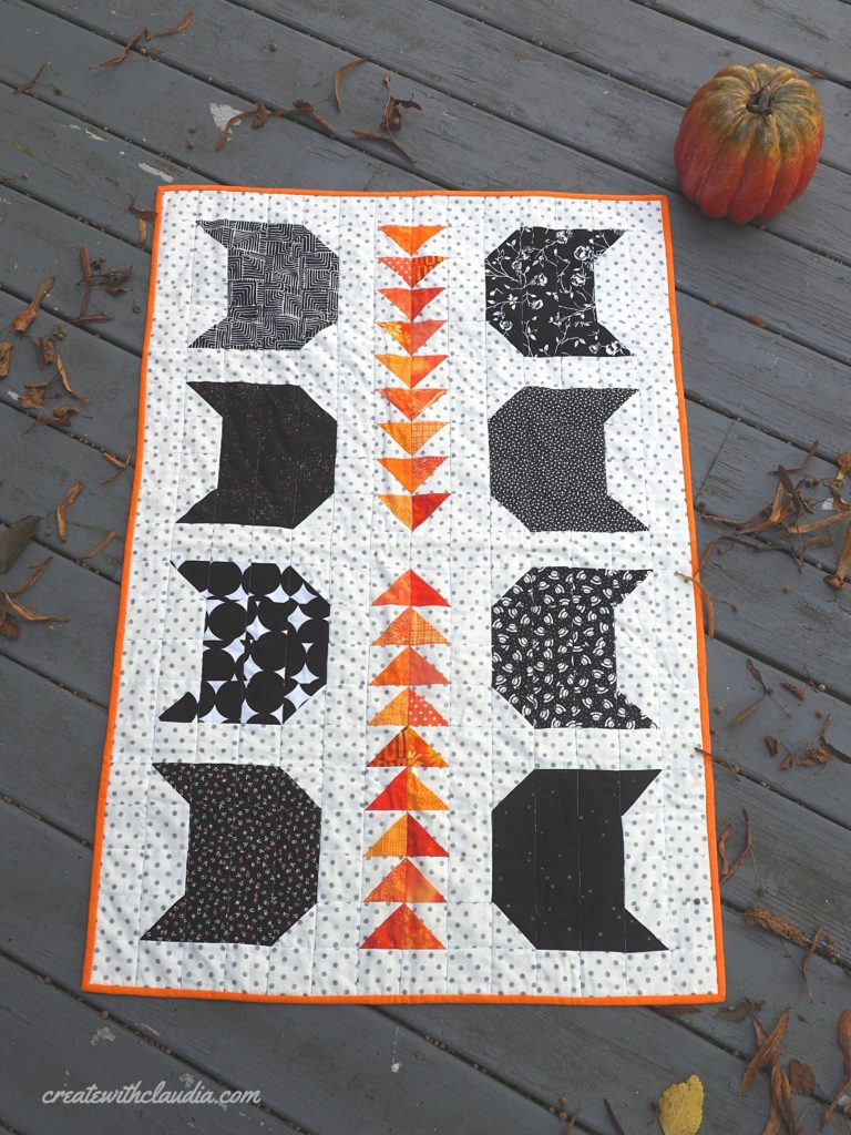 Halloween Cats Table Runner Pattern