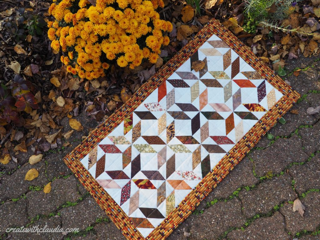 Swirling Leaves Quilted Table Runner Pattern