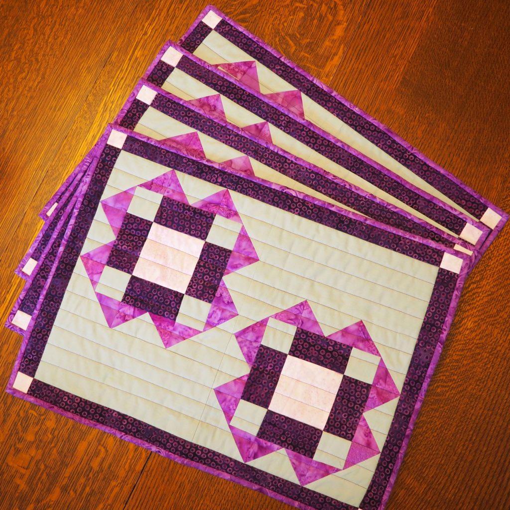 quilted batik placemats pattern