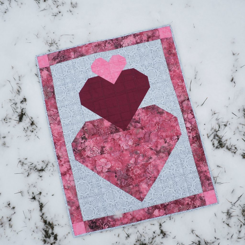 Stacked Hearts Valentine's Day Quilt Pattern